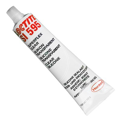 Loctite SI 595 Clear Acetoxy Silicone 100ml Tube (was Superflex)