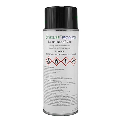 Lubri-Bond 220 Air Dry MoS2 Solid Film Lubricant 12oz Aerosol *MIL-L-23398D Type 2