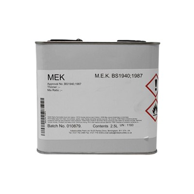MEK (Methyl Ethyl Ketone) 2.5Lt Can *BS1940
