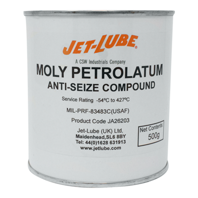 Jet-Lube Moly Petrolatum Aircraft Spark Plug Anti Seize Compound 500gm Can *MIL-T-83483