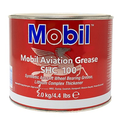 Mobil SHC 100 Synthetic Aviation Grease available in various sizes
