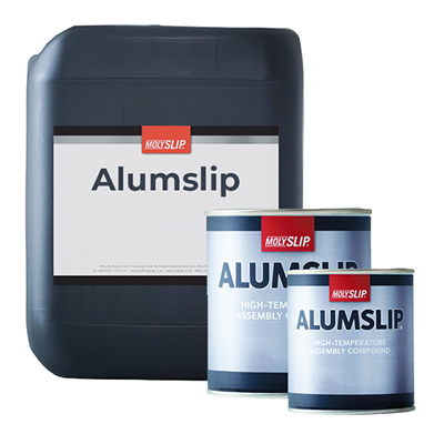 Molyslip Alumslip Aluminium/Graphite Anti-Seize & Assembly Compound in various sizes