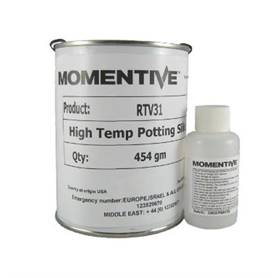 Momentive RTV 31 High Temp Potting Silicone Red c/w DBT Catalyst 1Lb (454gm) Kit