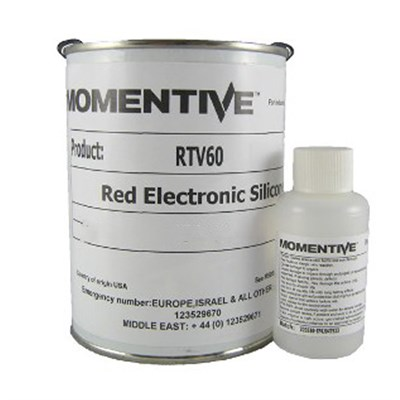 Momentive RTV 60 Red High Temp Electronic Silicone c/w DBT Catalyst 12Lb (5.45Kg) Kit (Freezer Storage -18°C)