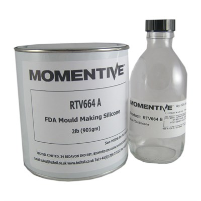 Momentive RTV 664 Moulding Silicone Blue A/B in various sizes