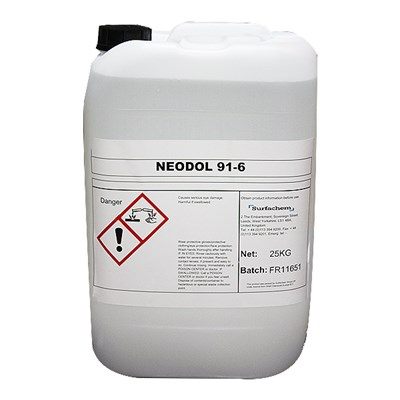 Shell Neodol 91-6 Primary Alcohol Ethoxylate 25Kg