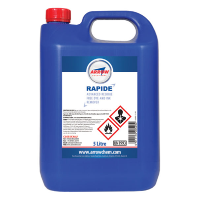 Arrow Rapide Dye and Ink Remover 5Lt Bottle