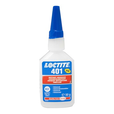 Loctite 401 Cyanoacrylate Adhesive 50gm Bottle (Fridge Storage 2°C-8°C)