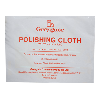 Greygate White Polishing Cloth 45cm x 45cm