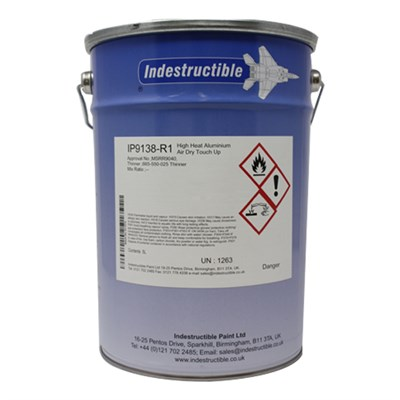 Indestructible Paint IP9138-R1 Skydrol Resistant Aluminium Paint 5Lt Tin *MSRR9040