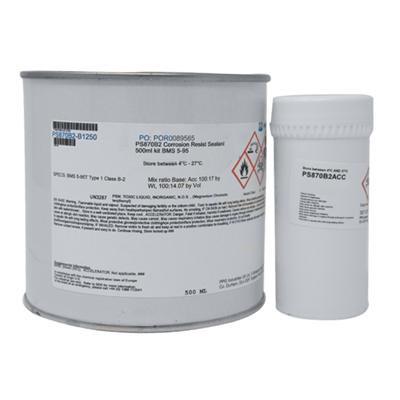 PPG PS870 B-2 Corrosion Inhibitive Sealant 500ml Kit *BMS5-95 Type I Class B2