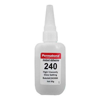 Permabond 240 (C4) High Viscosity Cyanoacrylate Adhesive 50gm Bottle (Fridge Storage 2°C-7°C)
