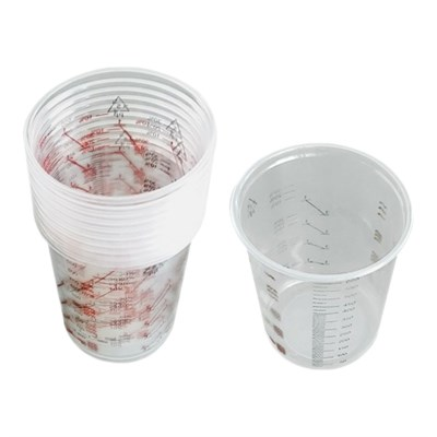 Plastic Measuring Cups 600cc (Pack Of 50 Cups)