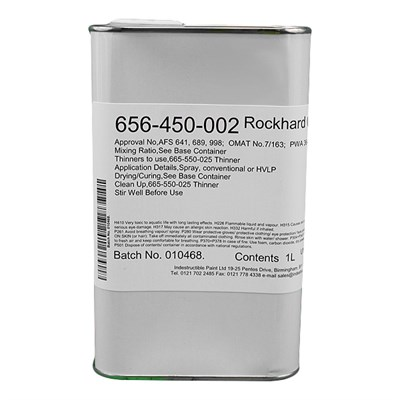 Rockhard Catalyst for 2 Pack Epoxy Coatings (656-450-002) 1Lt Tin
