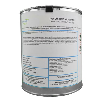 Royco 22MS Synthetic Based Grease 1.75Lb Tin *MIL-G-81827A