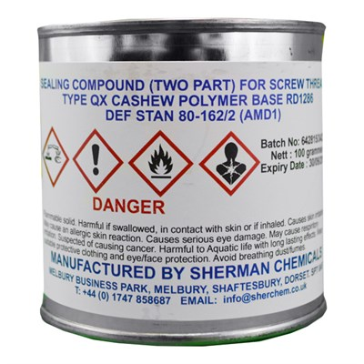 Sherman RD1286 Sealant 100gm *DEF STAN 80-162 Type QX