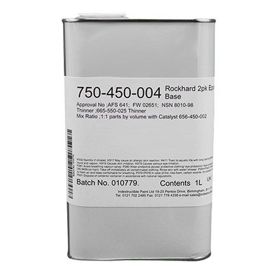 Rockhard Lacquer 750-450-004 2 Pack Clear Epoxy Base 1Lt Can
