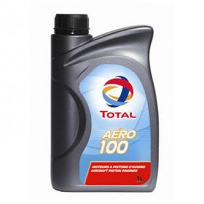 Total Aero 100 Non Dispersive Piston Engine Oil 1Lt Can (Meets SAE J-1966 Grade 50)