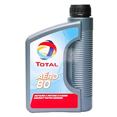 Total Aero 80 Non Dispersive Piston Engine Oil 1Lt Can (Meets SAE J-1966 Grade 40)