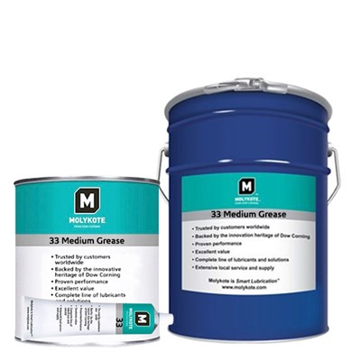 MOLYKOTE™ 33 Medium Grease available in various sizes and colours