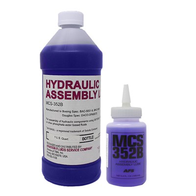MCS352B Hydraulic Assembly Lubricant available in various sizes