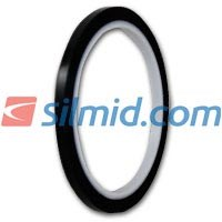 H143B Silicone Adhesive Black Polyimide Tape 5mm X 33Mt Roll