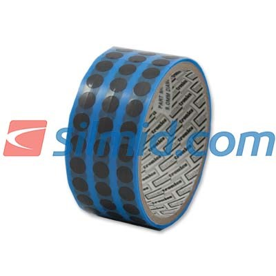 adhere INT630 Anti Static Conformal Coating Masking Tape 9mm Dots 1000 Per Roll
