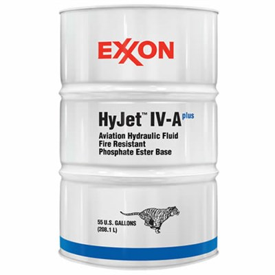 Mobil HyJet IV-A+ Aviation Hydraulic Fluid 55USG Drum *BMS3-11 Type IV Class 1A
