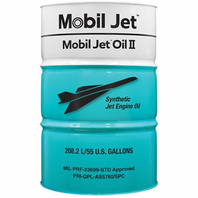 Mobil Jet Oil II (O-156) 208Lt Drum *MIL-PRF-23699F Type STD