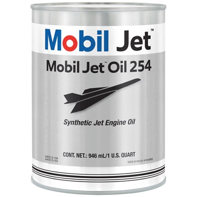 Mobil Jet Oil 254 (O-154) 1USQ Can *MIL-PRF-23699F Type HTS