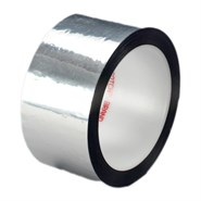 3M 850 Polyester Film Tape Silver 1in x 72yd Roll