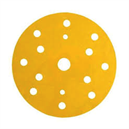 3M Hook-It Backing Pad 9 Hole Yellow (Box of 10)