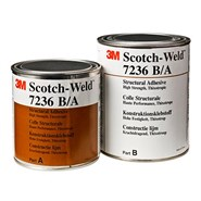 3M Scotch-Weld 7236 B/A Two Part White Structural Adhesive 1Lt Kit