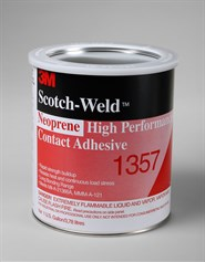 3M Scotch-Weld EC-1357 Neoprene High Performance Contact Adhesive (Light Yellow) 1USG Tin *MMM-A-121