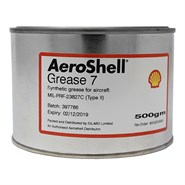 Aeroshell Grease 7 500gm Tin *MIL-PRF-23827C Type II