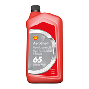 AeroShell Piston Engine Oil 65 1USQ Bottle *SAE-J-1966 Grade 30 (Replaces MIL-L-6082E)