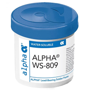 Alpha WS-809 SN62/PB36/AG2 Water Soluble Solder Paste 500gm Pot (Fridge Storage 0 - 10°c)