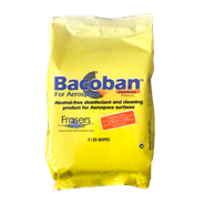 Bacoban DL for Aerospace 1% Ready to Use Aircraft Disinfectant Wipes (Pack of 25 Wipes)