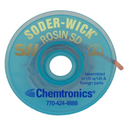 Chemtronics Solder-Wick Rosin Desoldering Braid Yellow 1.5mm x 1.5Mt Reel