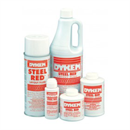 Dykem Steel Red Layout Fluid 4oz Brush Can