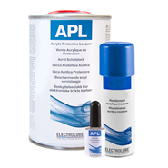 Electrolube APL Acrylic Protective Lacquer in various sizes