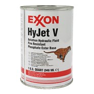 Mobil Hyjet V Fire Resistant Hydraulic Fluid in various sizes