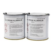 Double Bond Cream 2 Part Structural Adhesive/Filler Aluminium 1Kg Kit