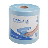 WypAll® 7302 L20 Industrial Wiper Blue 38cm x 18.5cm 336 Sheet Centrefeed Roll