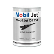 Mobil Jet Oil 254 in various sizes