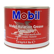 Mobil SHC 100 Synthetic Aviation Grease in various sizes