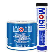 Mobil Grease 28 in various sizes