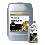 Mobil Mobilube 1 SHC 75W-90 Synthetic Lubricant in various sizes