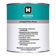 MOLYKOTE™ G-Rapid Plus Solid Lubricant Paste available in various sizes