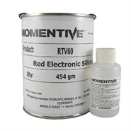 Momentive RTV 60 Red Silicone Elastomer and DBT Catalyst (Freezer Storage -18°C) in various sizes